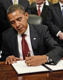 President Obama signing executive order