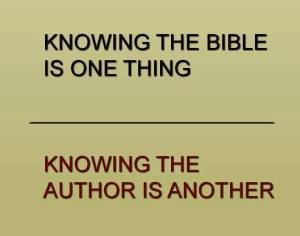knowing the author